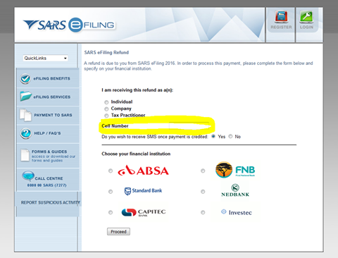 SARS EFiling SCAM Alert